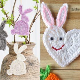 Bunny Appliques Free Crochet Patterns