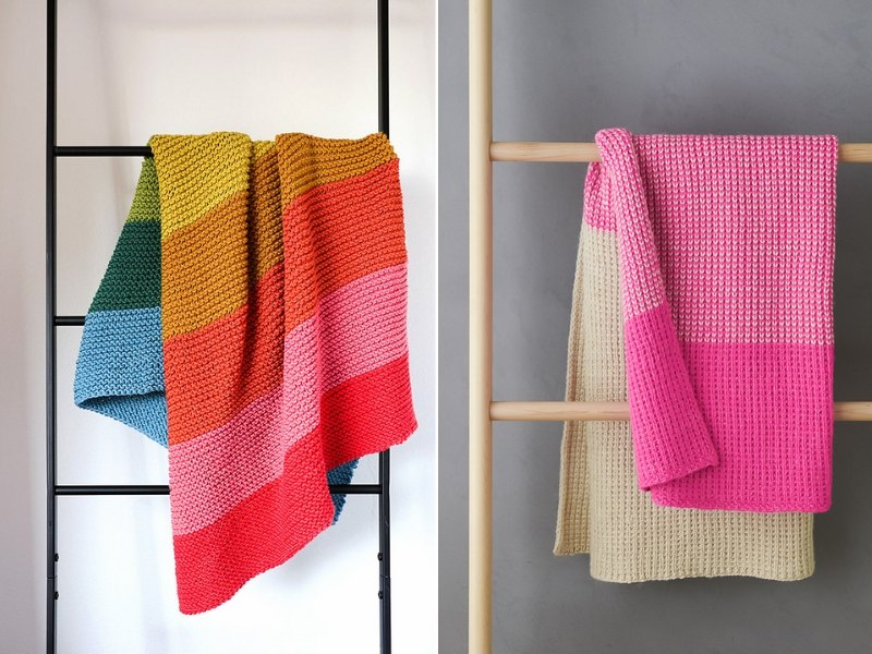 Candy Colors Blankets Free Crochet Patterns