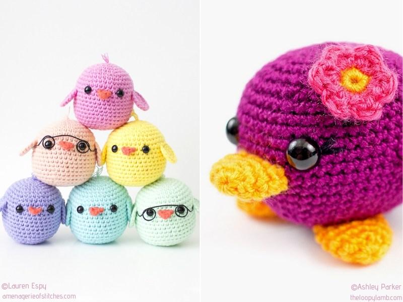 Colorful Spring Birds Crochet Patterns