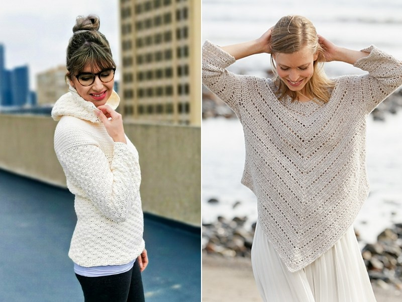 Creamy Beige Pullovers Free Crochet Patterns
