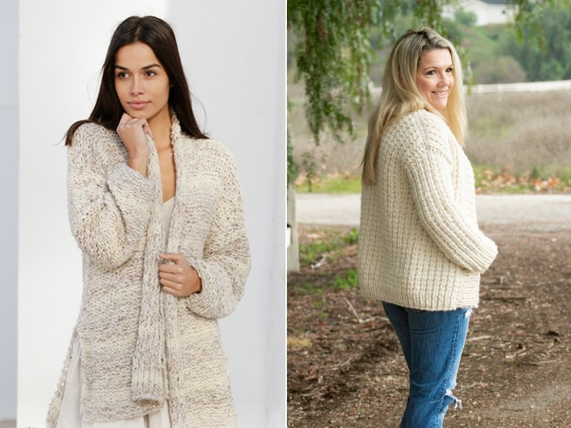 Creamy Cardigans Free Knitting Patterns