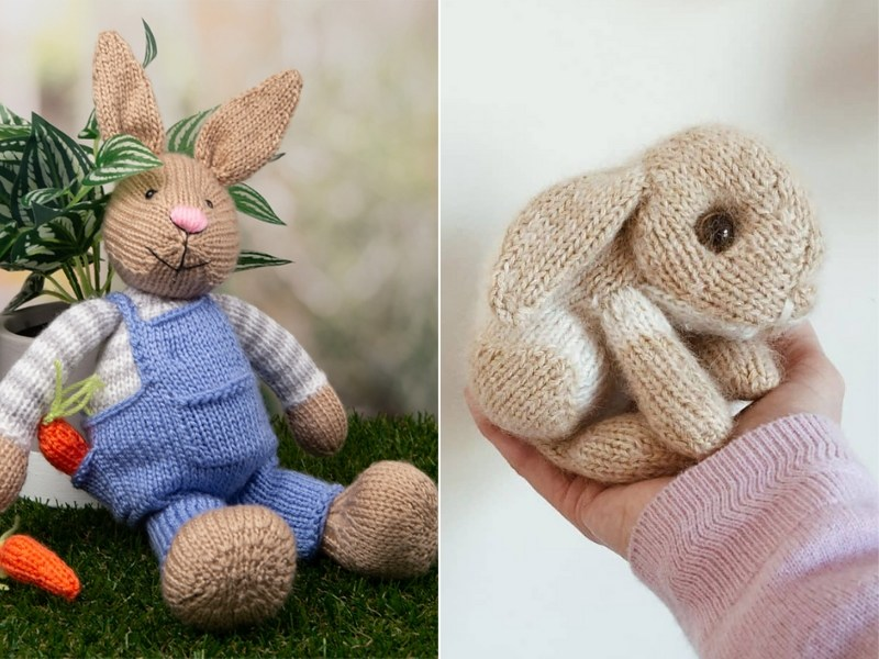 Cuddly Bunnies Free Knitting Patterns