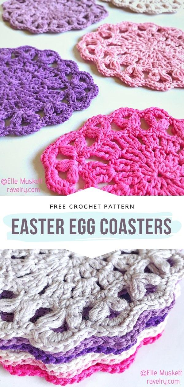 Crochet Easter Egg Coasters