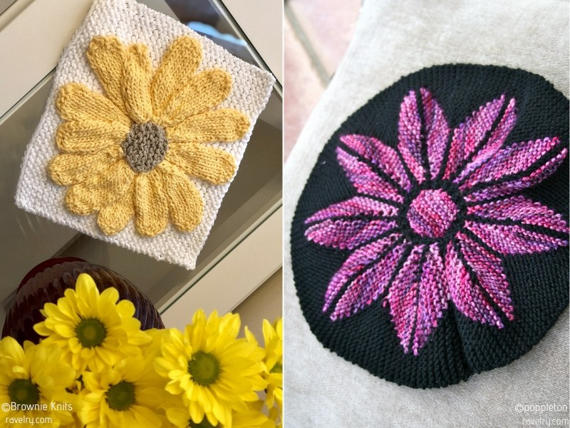 Floral Blocks Free Knitting Patterns