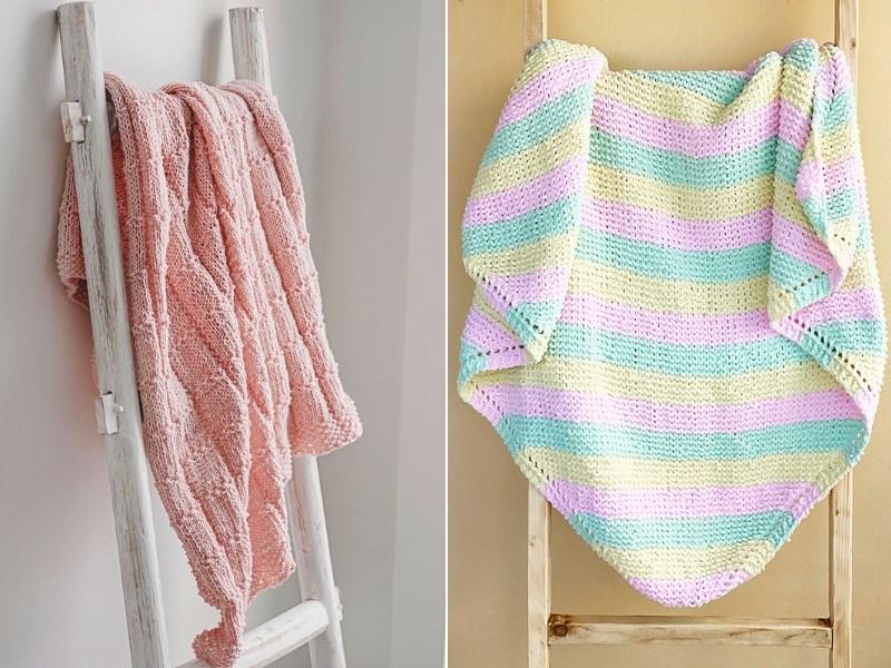 Warm Days Baby Blankets Free Knitting Patterns