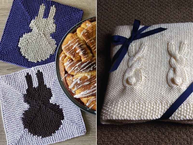 Knit Bunny Accessories for the Home Free Patterns