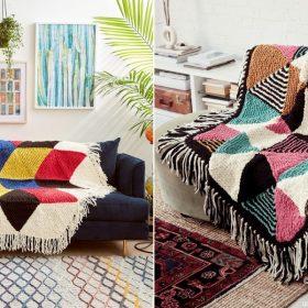 Hexagons Go Large Free Knitting Patterns