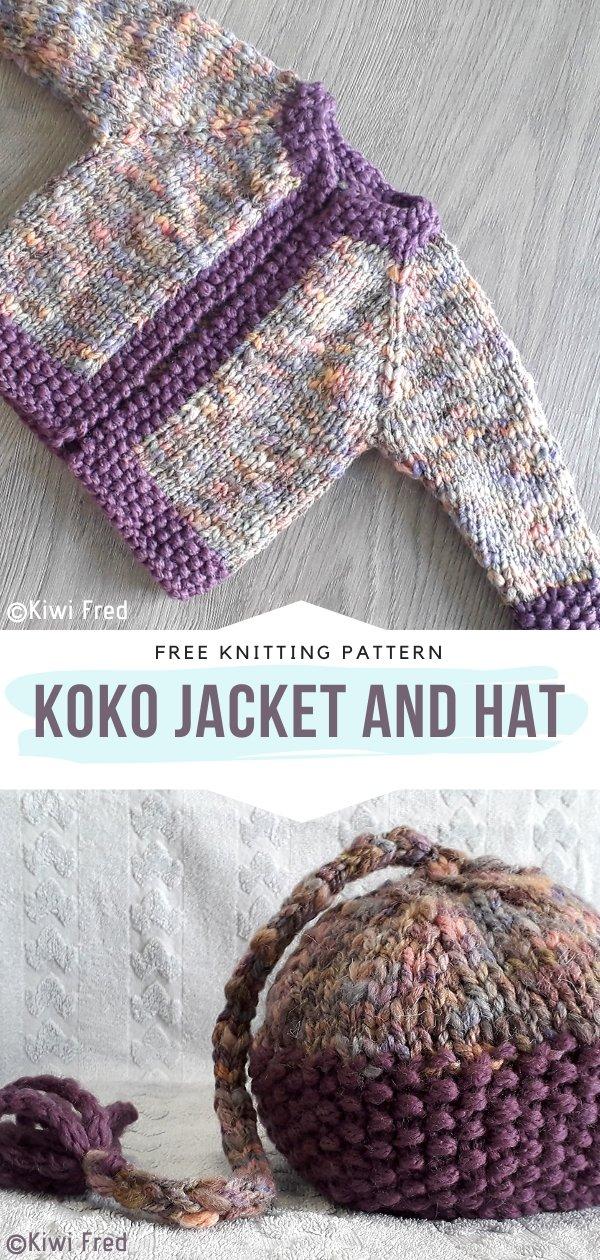Koko Jacket and Hat Free Knitting Pattern