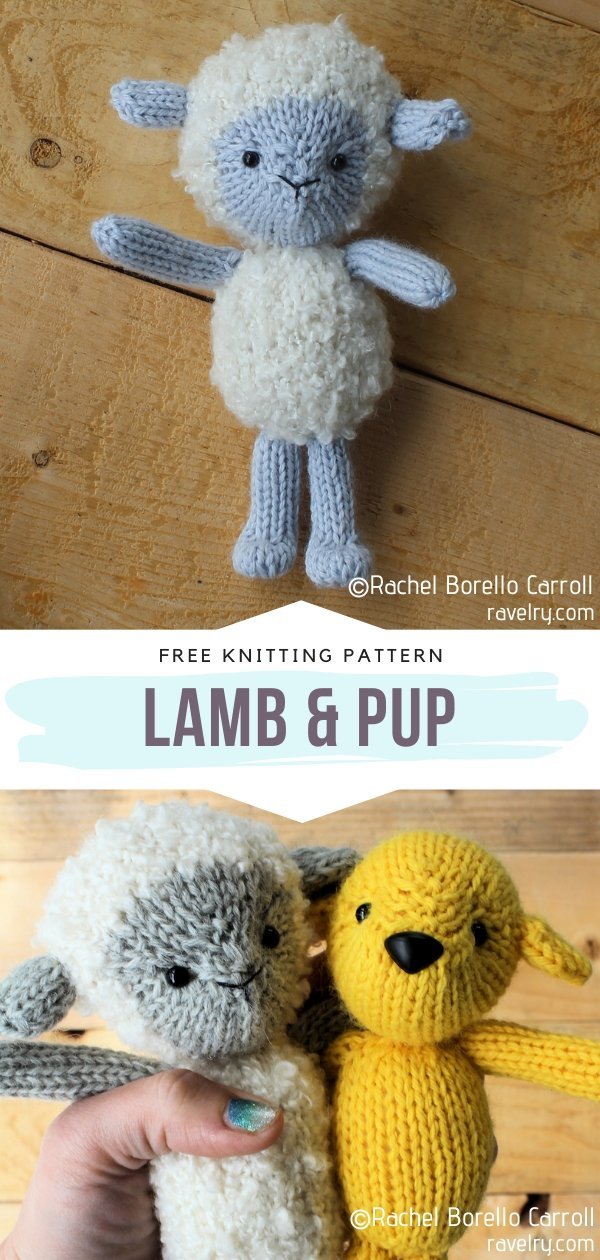 Knitted Lamb & Pup