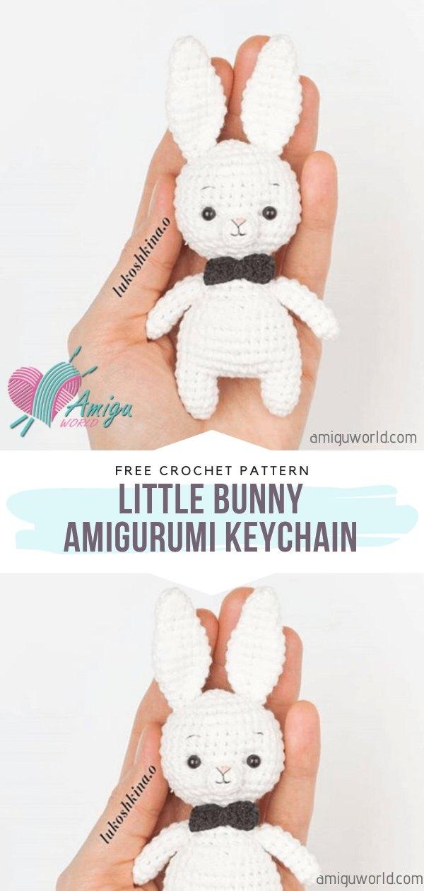 Little Bunny Amigurumi Keychain Free Crochet Pattern