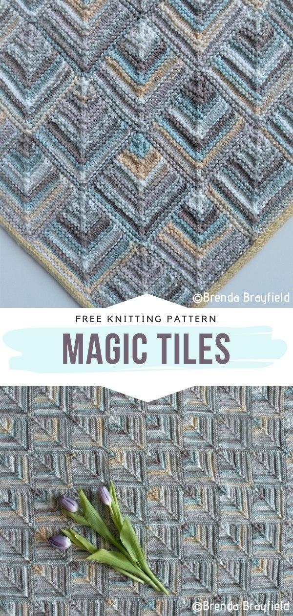 Magic Tiles Free Knitting Pattern
