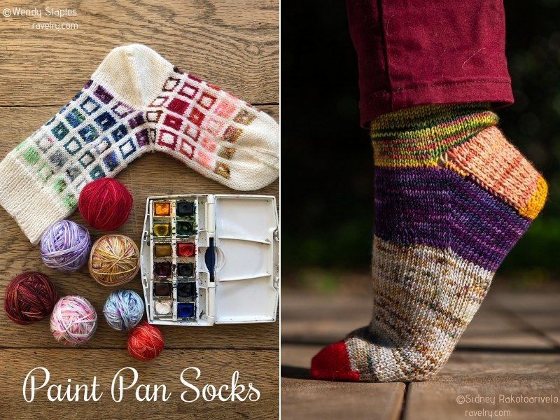 Multicolor Socks Free Knitting Patterns