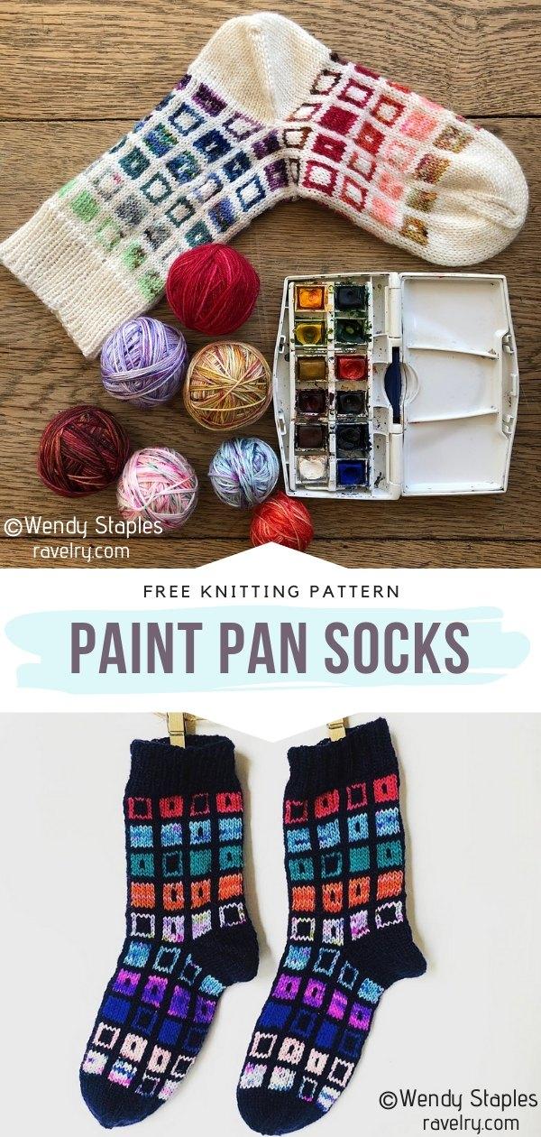 Paint Pan Socks Free Crochet Pattern