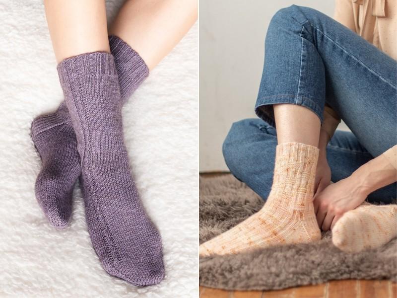 Pretty Basic Socks Free Knitting Patterns