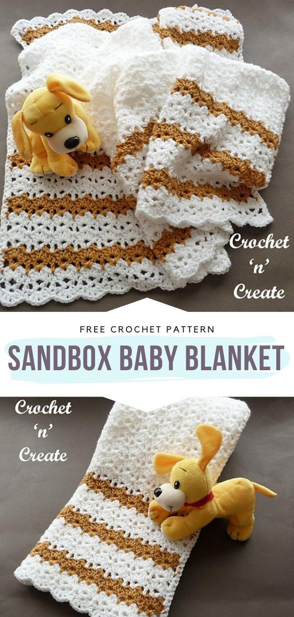 Sandbox Baby Blanket Free Crochet Pattern