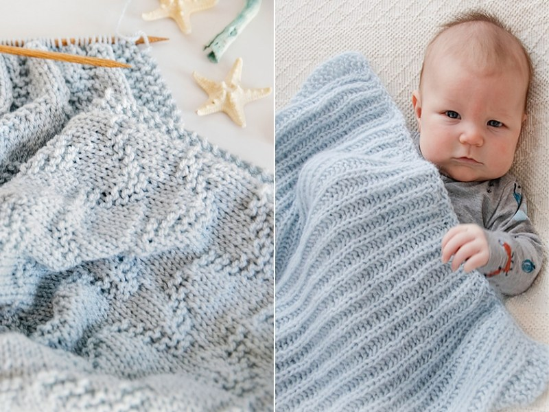 Simple Baby Blankets Free Knitting Patterns