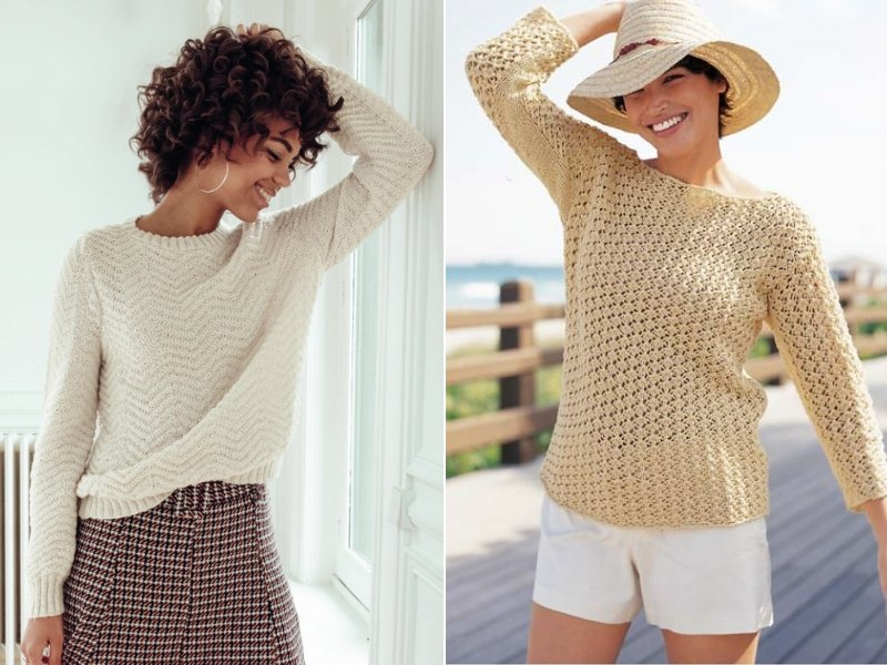 Soft Beige Pullovers Free Knitting Patterns