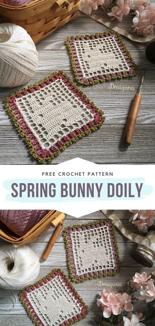 Crochet Bunny Doily