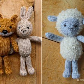Sweet Animal Softies Free Knitting Patterns