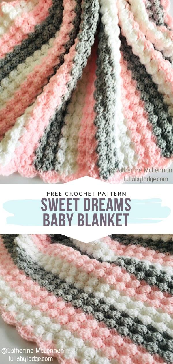 Sweet Dreams Baby Blanket Free Crochet Pattern