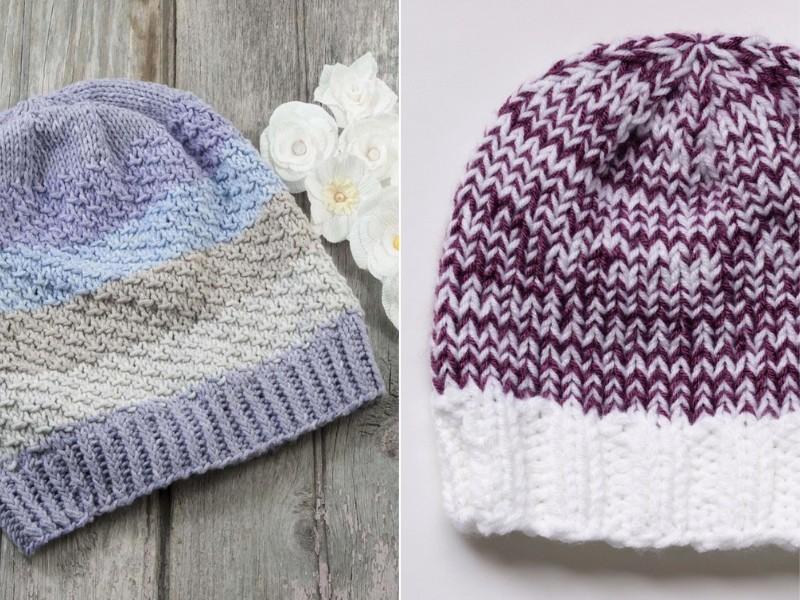 Sweet Slouchy Beanies Free Knitting Patterns