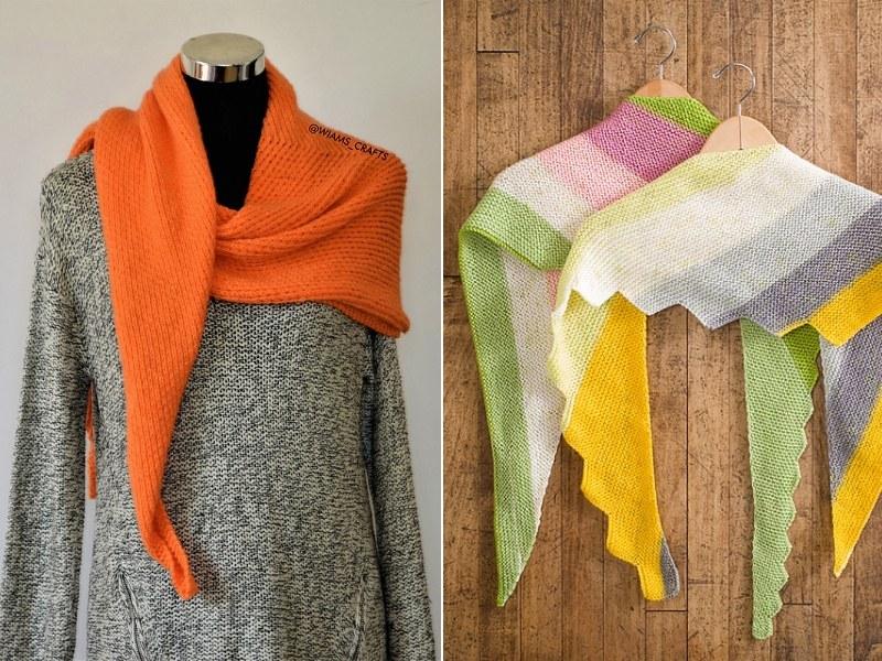 Warm Tones Shawls Free Knitting Patterns