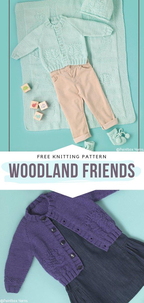 Woodland Friends Free Knitting Pattern