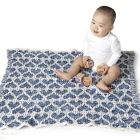 Baby Blankets Full of Hearts Free Knitting Patterns