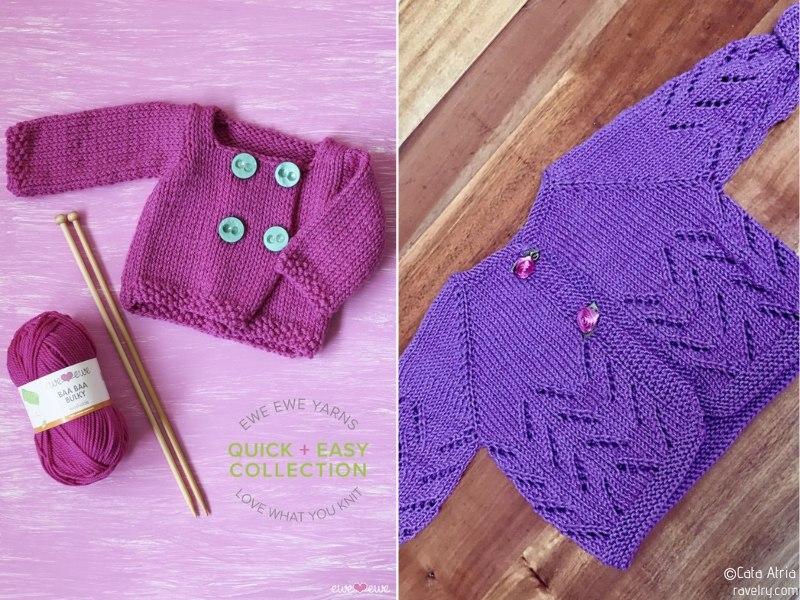 Baby Girl Knit Cardigans Free Patterns