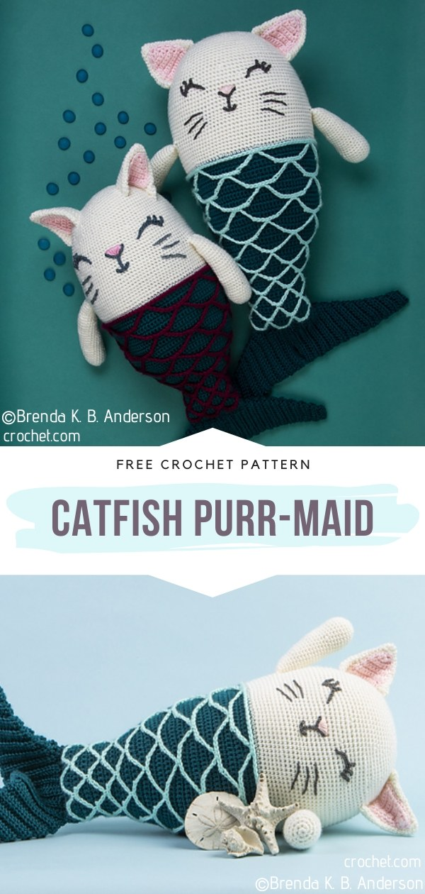 Catfish Purr-maid Amigurumi