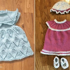 Chic Baby Girl Knit Dresses Free Patterns