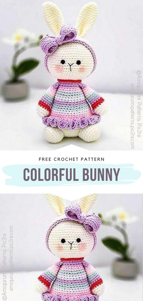 Colorful Bunny Amigurumi Toy