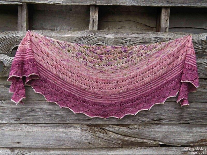 Knit Crescent Shawls