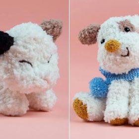 Fleecy House Animals Free Knitting Patterns