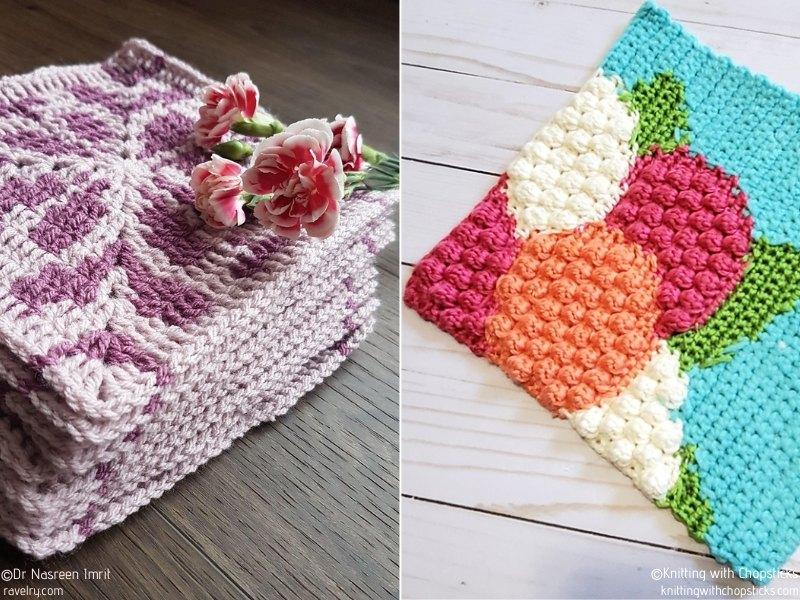 Flower Tapestry Crochet Squares