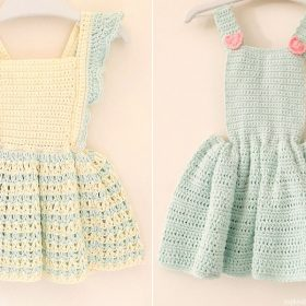 Sweet Mint Baby Dresses Free Crochet Patterns