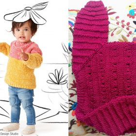 Warm Colors Baby Pullovers Free Knitting Patterns