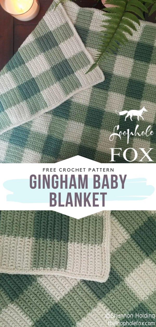 Gingham Crochet Baby Blanket