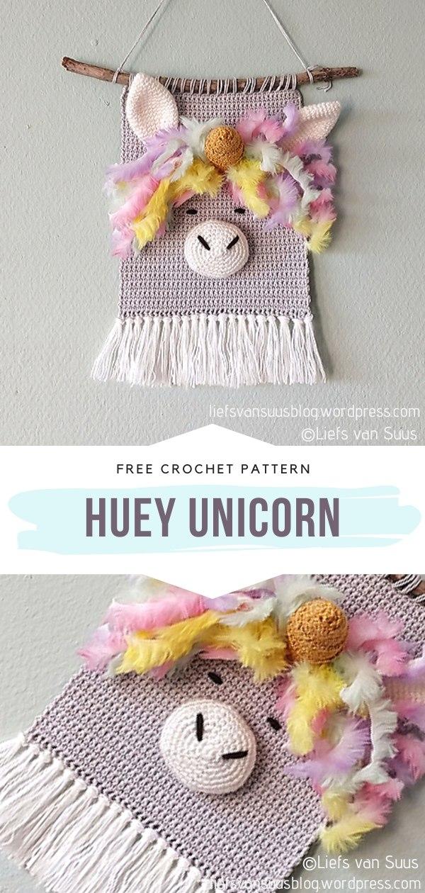 Unicorn Crochet Wall Hanging