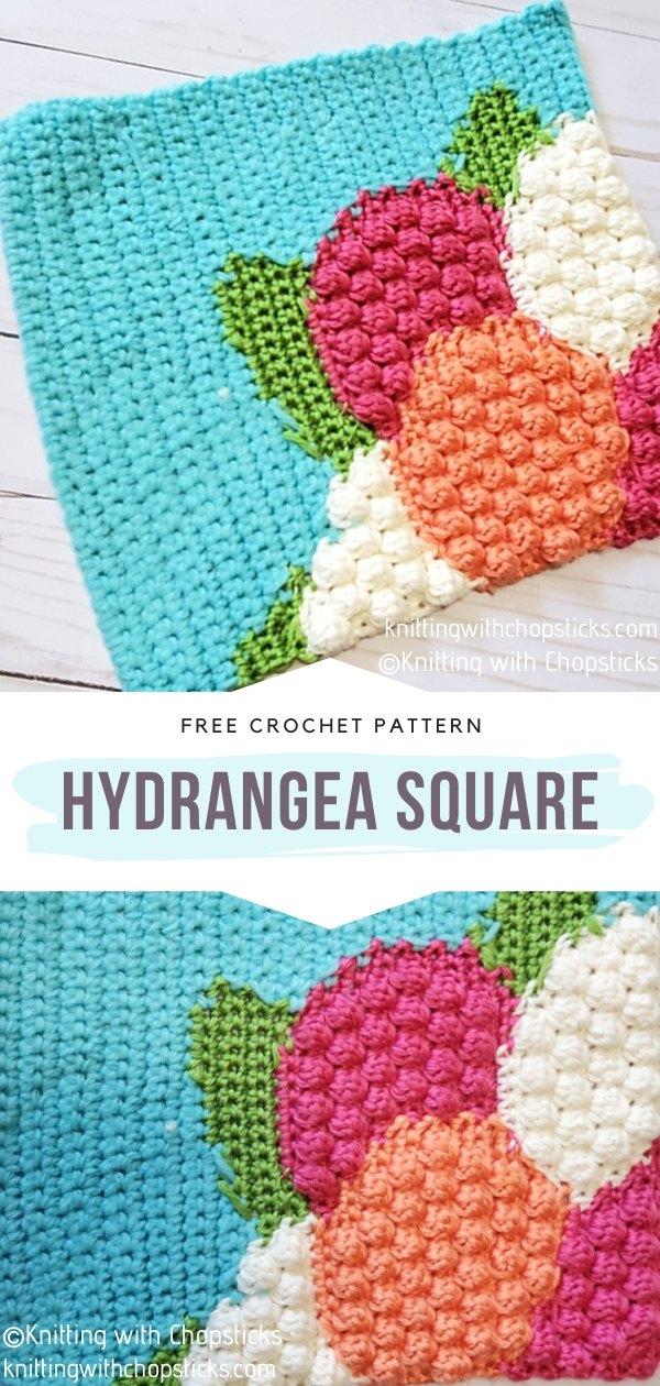Hydrangea Crochet Square