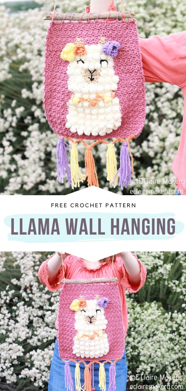 Llama Crochet Wall Hanging