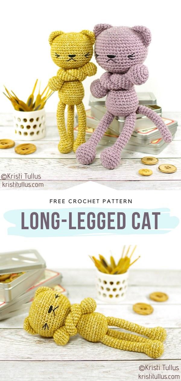 Long-Legged Cat Amigurumi