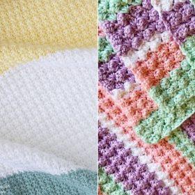 Lovely Textured Blankets Free Crochet Patterns