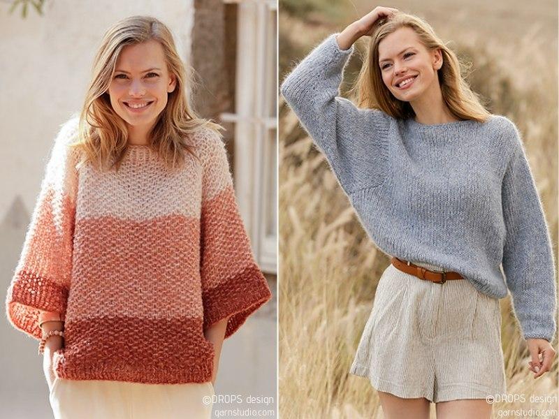 Oversize Craze Pullovers Free Knitting Patterns