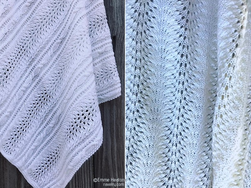 Pure White Lacy Blankets Free Knitting Patterns