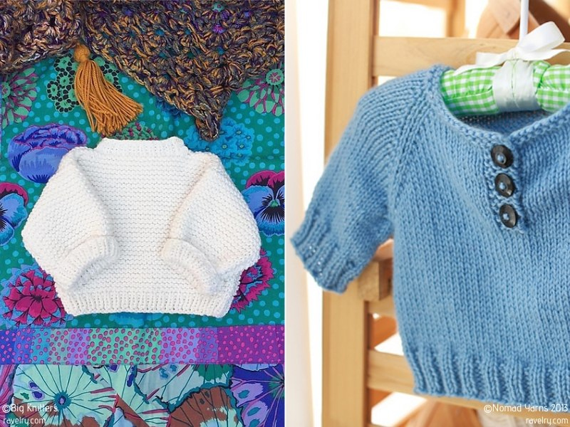 Simple Knit Baby Pullovers