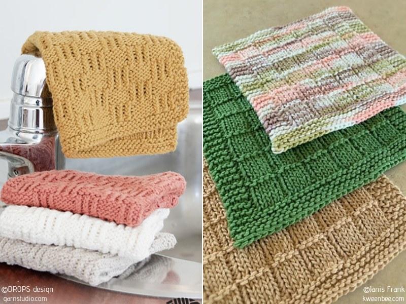 Simple Dishcloths Free Knitting Patterns