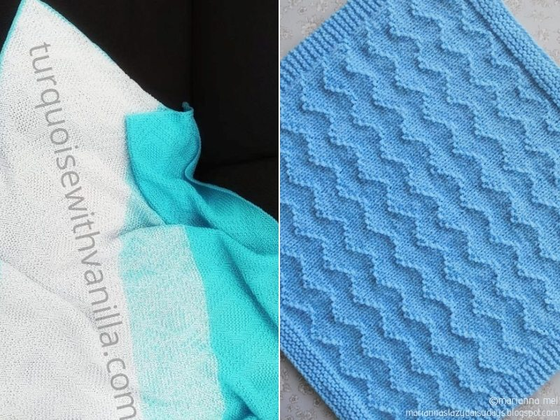 Simply Blue Knit Blankets