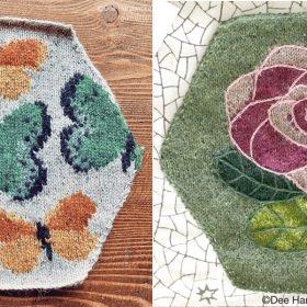 Spring Hexagons Free Knitting Patterns
