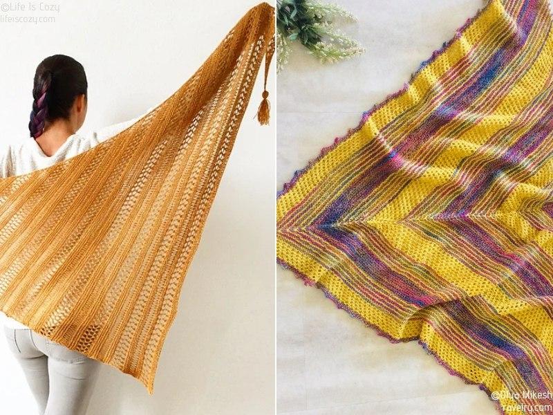 Sunny Lace Knit Shawls